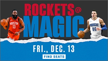 Join us at Amway Center on Friday, December 13. versus the Houston Rockets