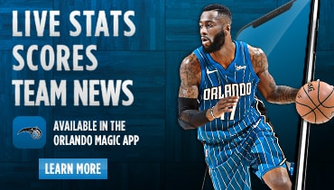 Live Stats, Scores and Team News available on the Orlando Magic App
