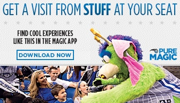 Get a Visit From Stuff At Your Seat only on the Orlando Magic App