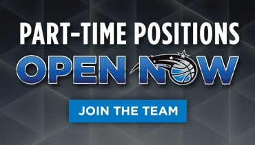 The Orlando Magic Are Now Hiring For Part-Time Positions.  Apply Today!