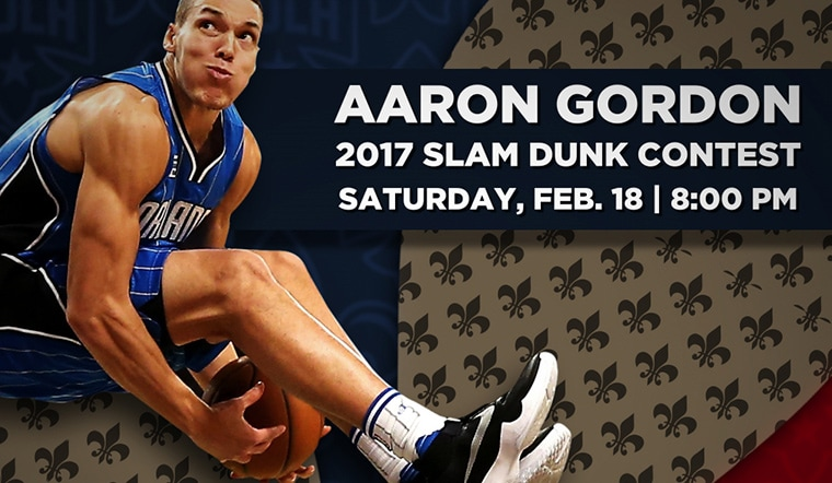 Aaron Gordon Selected to Participate in NBA Slam Dunk Contest