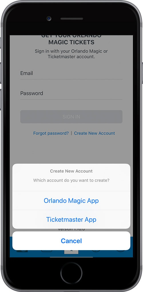 A Pop Up Will Appear At The Bottom Of Your Screen Tap Orlando Magic App