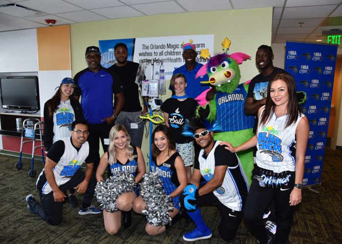 Grant and Martin Deliver 'Get Well' Teddy Bears Signed by Magic Fans to AdventHealth for Children