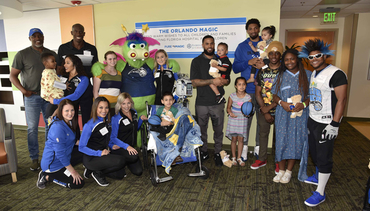 Augustin and Birch Lift Spirits at Florida Hospital for Children