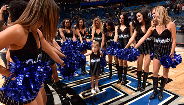 Orlando Magic Dancers Help Make Young Cheerleader's Dream Come True