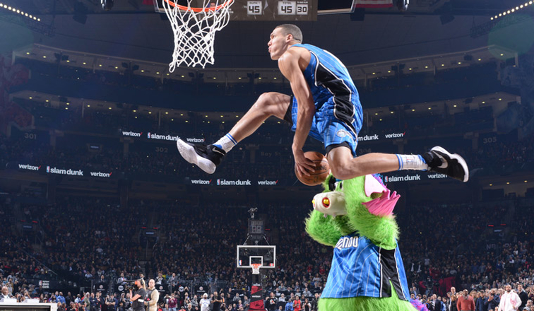 Image result for Aaron Gordon dunking 2016-17