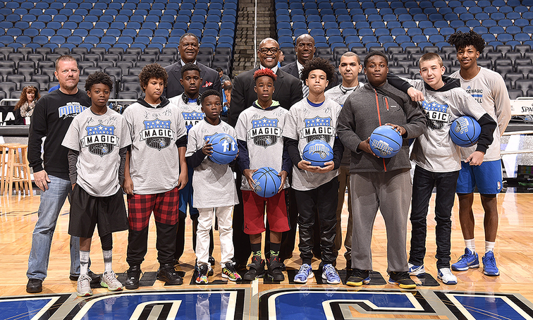 Magic Honor Gainesville Police Officer Bobby White and #HoopsNotCrime Crew