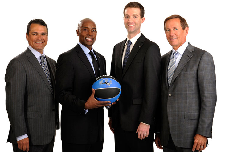Alex Martins, Jacque Vaughn, Rob Hennigan and Dan DeVos