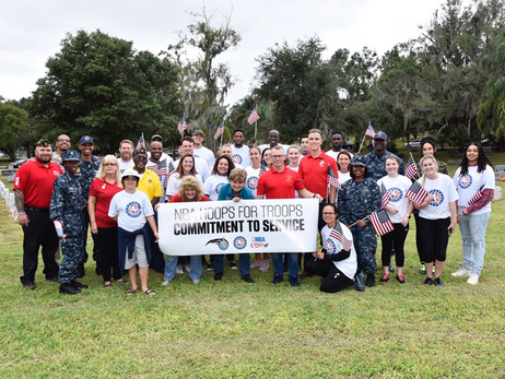 Gordon, Martin Punctuate NBA Cares Hoops for Troops Week