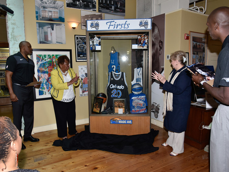 Magic Replace Stolen Team Memorabilia at Wells'Built Museum