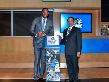Tracy McGrady Enshrined in Orlando Magic Hall of Fame