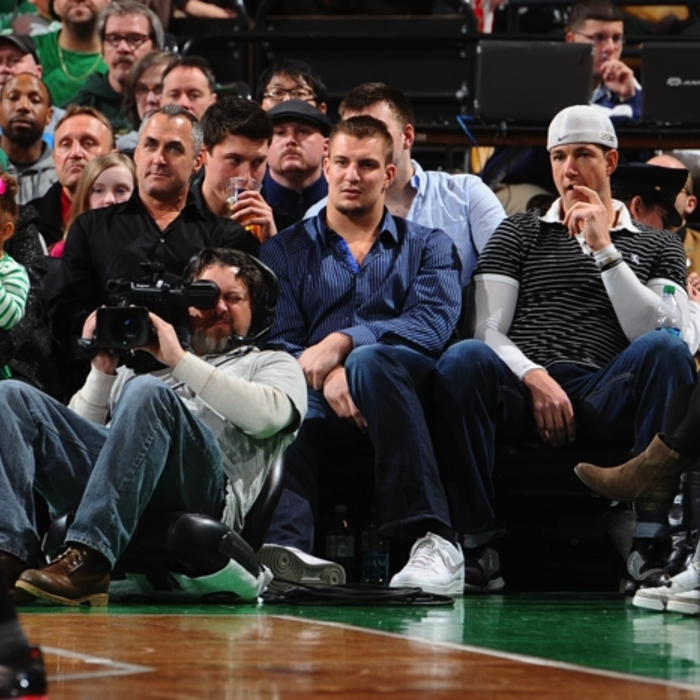 NFL Players & Coaches at NBA Games