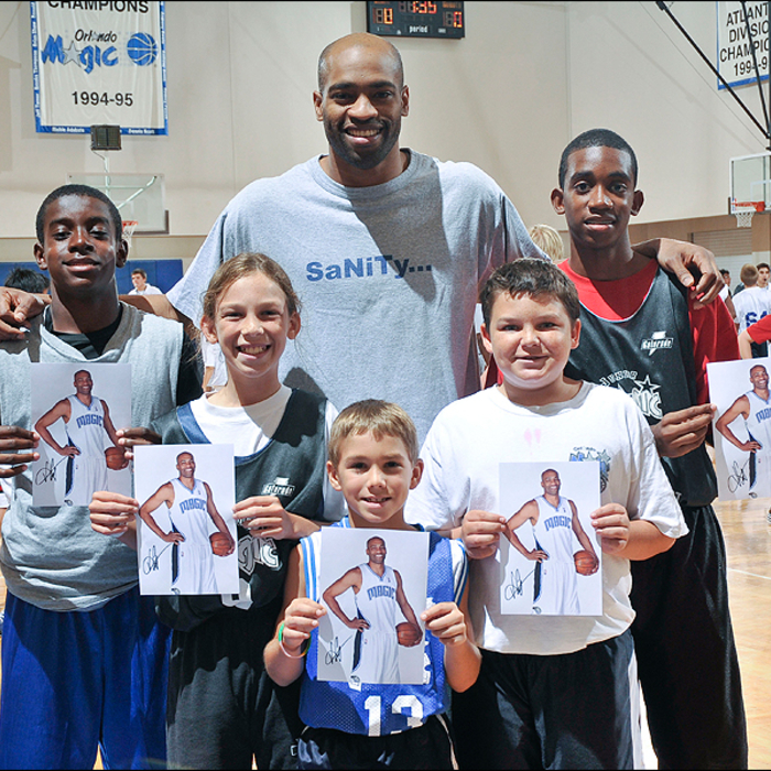 Vince Carter Speaks at Magic Youth Basketball Camp