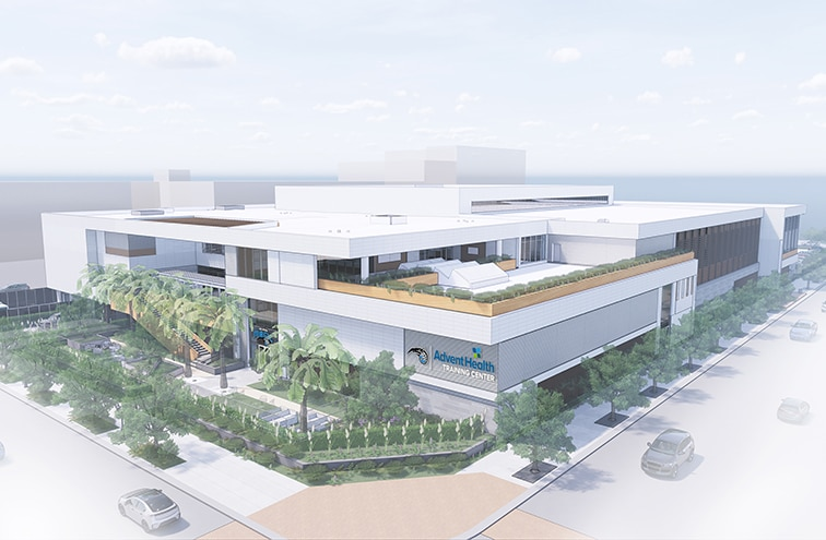 New downtown state-of-the-art training center for the Orlando Magic and destination sports-medicine center for Central FL