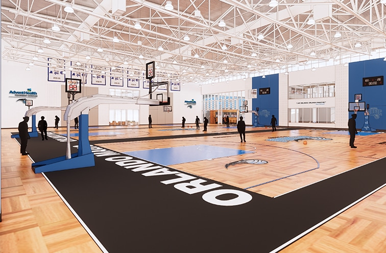 state-of-the-art training center for the Orlando Magic