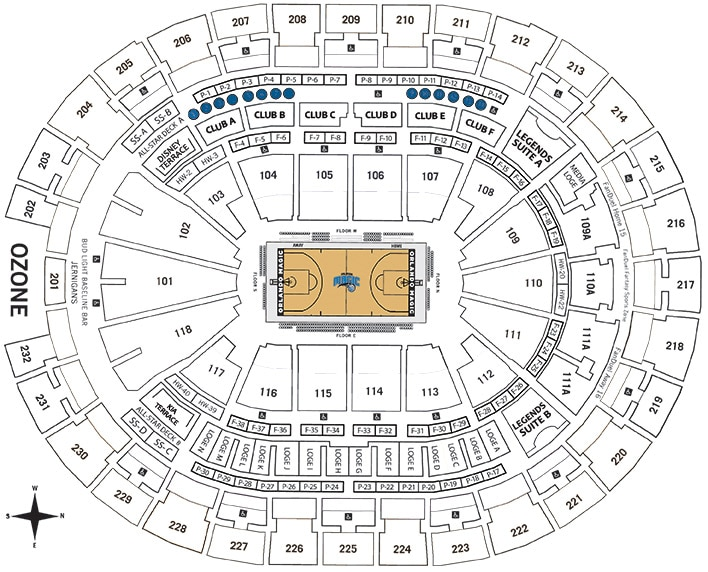 MVP Table Seating Chart - Amway Center