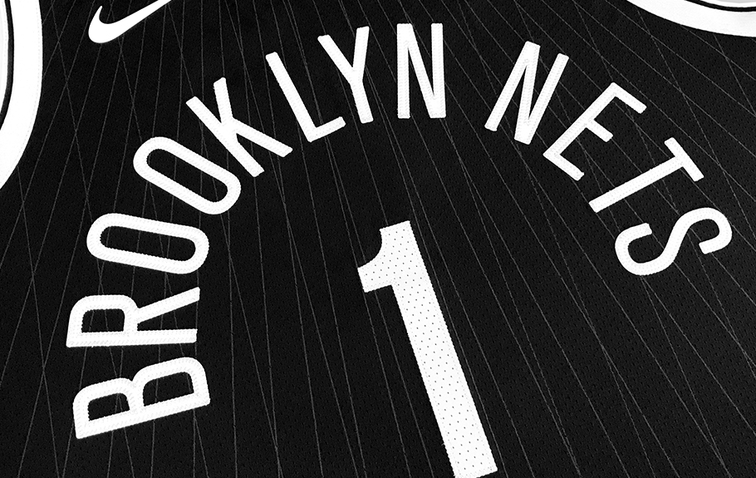 ... jersey has diagonal pinstripes in reference to the Brooklyn Bridge.  That s what the side paneling is supposed to be too. I think Brooklyn Nets  in an ... dd01656bb