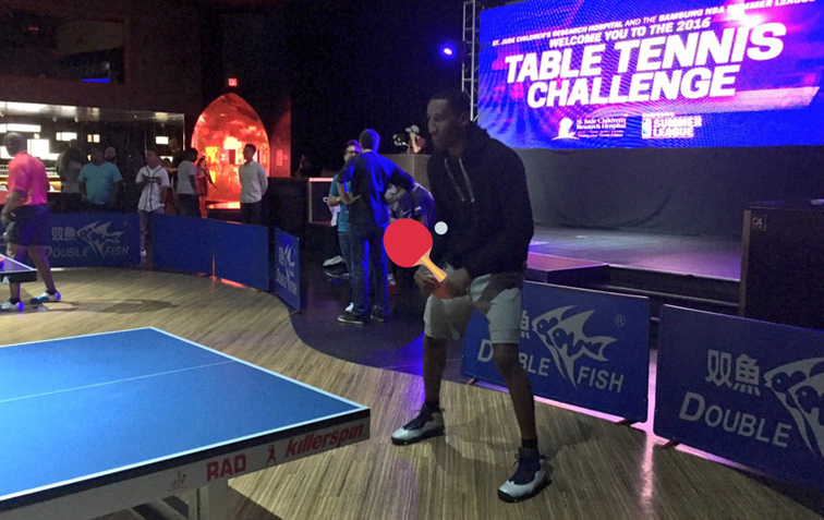 Hollis-Jefferson Plays in Charity Table Tennis Challenge