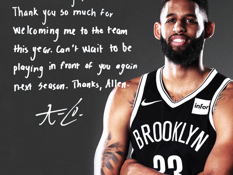 Nets players' pen thank you notes to fans