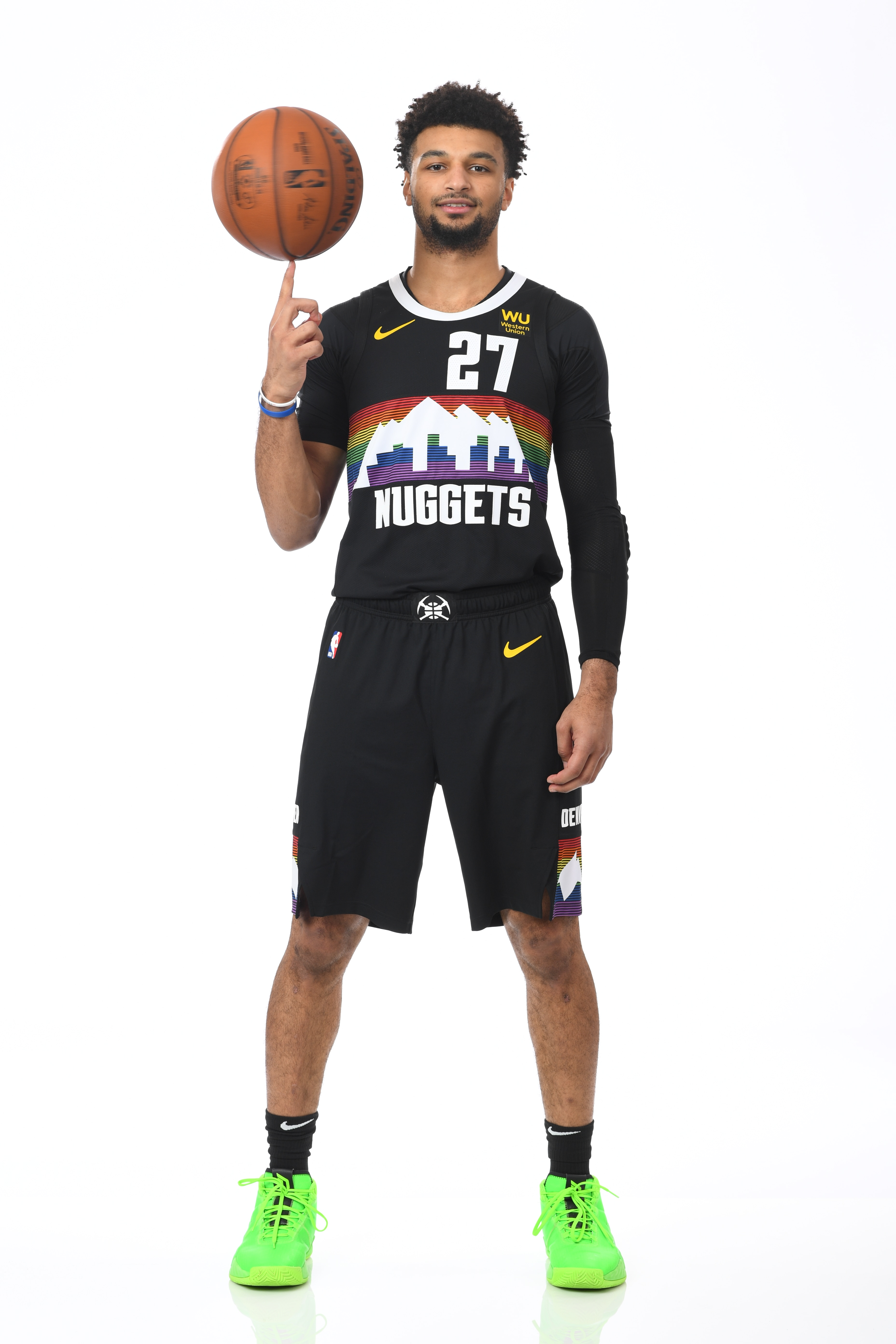 Several Nuggets players showcase the new City Edition jerseys for the 2019-20 season.