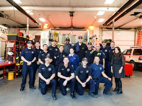 Nuggets visit Denver Fire Station No. 1