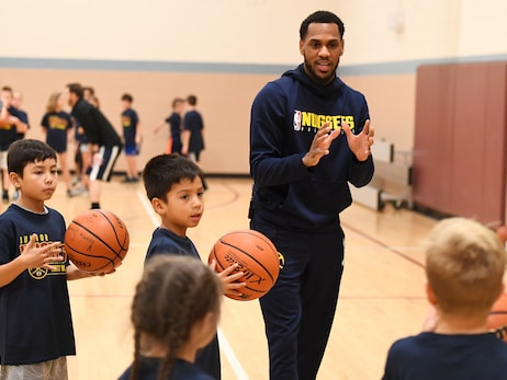 Scenes from Jr. Nuggets Clinic with Monte Morris