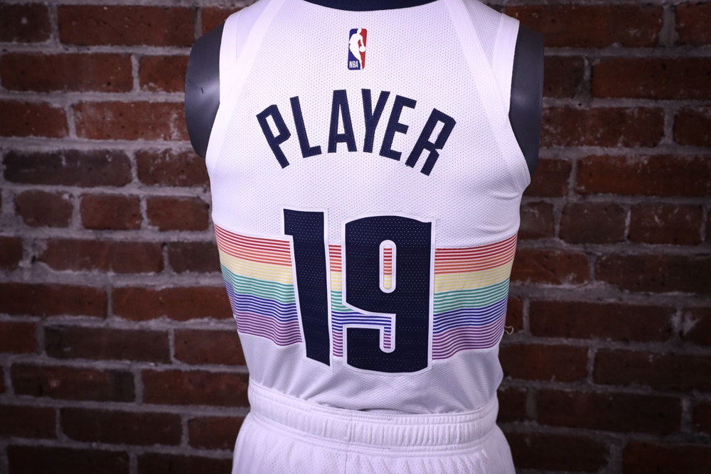 f9dca93a21a4 The Denver Nuggets will wear a new creation of their historic rainbow  uniforms as their 2018