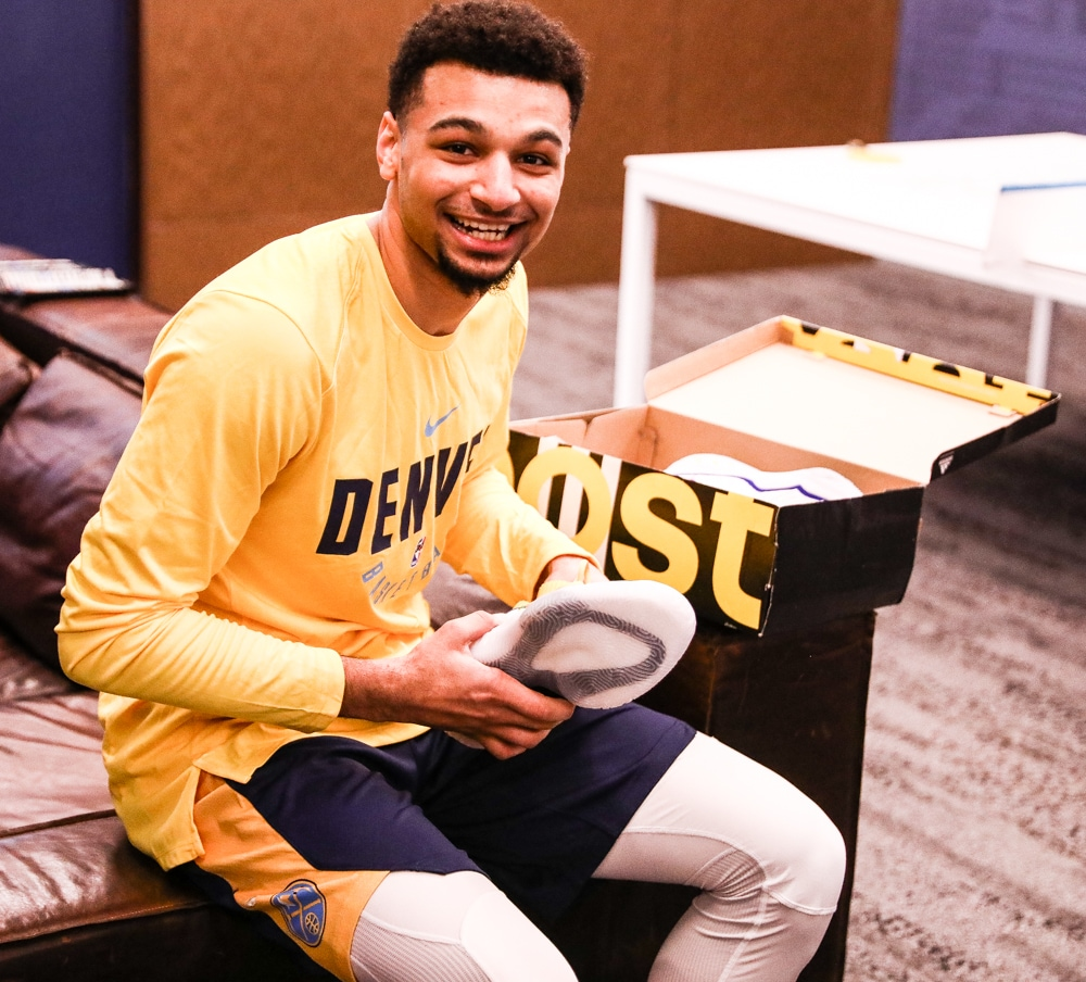 Denver Nuggets Announcers: Jamal Murray Adidas Shoes For 80's Night