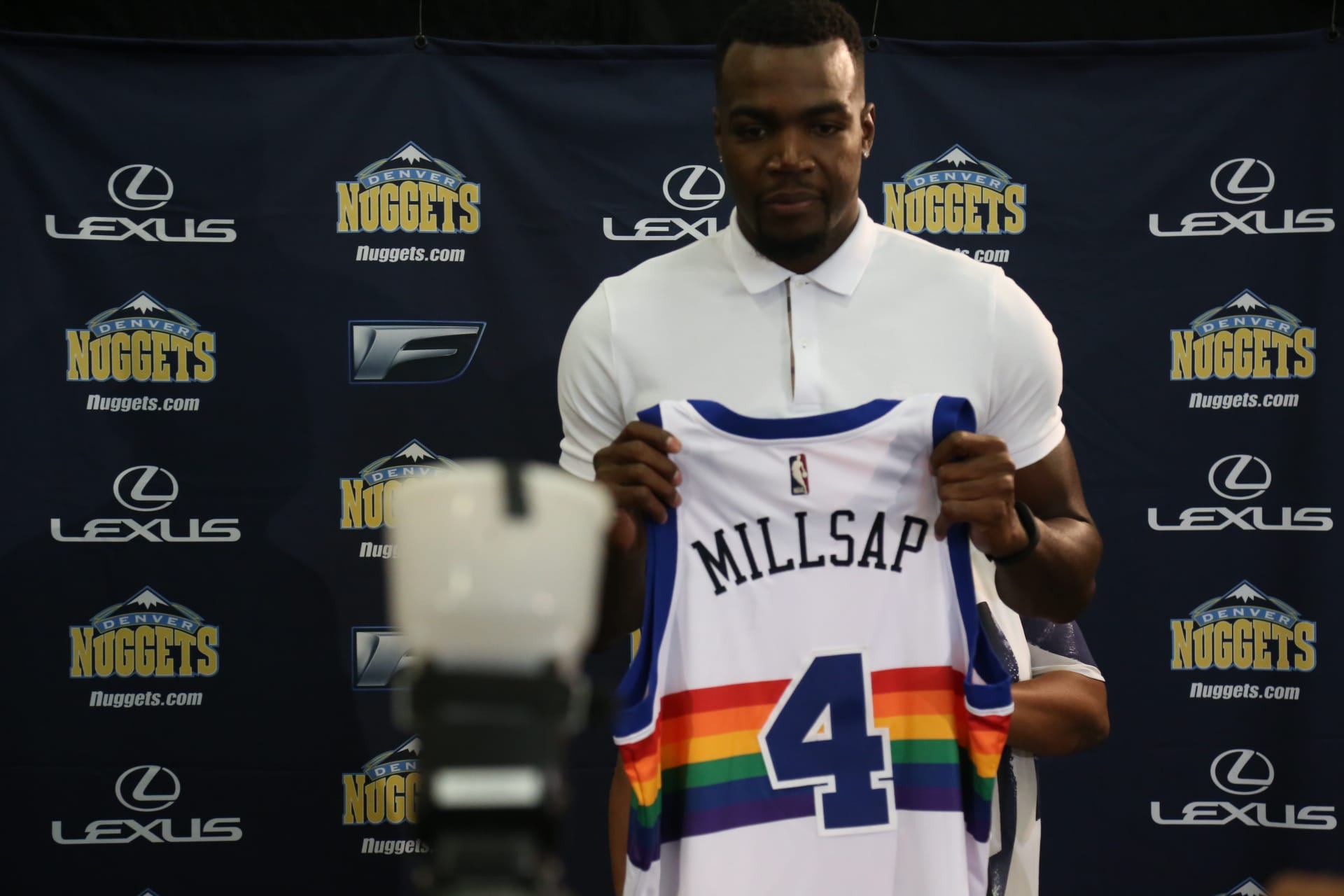 separation shoes 43097 3da84 Photo Gallery: Welcoming Paul Millsap | Denver Nuggets