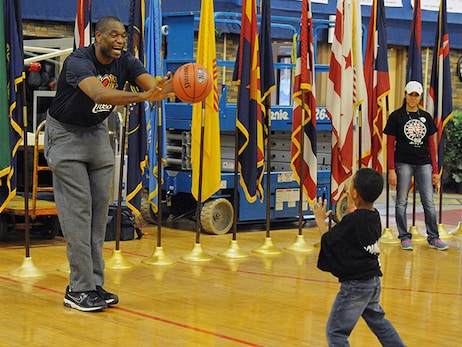 Dikembe Mutombo Youth Basketball Clinic at Fort Carson