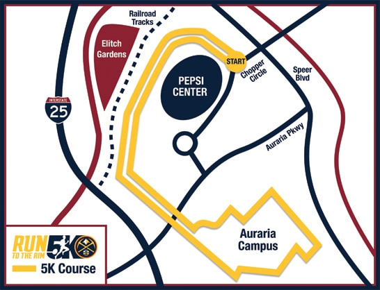 Nuggets 5K Route 2018