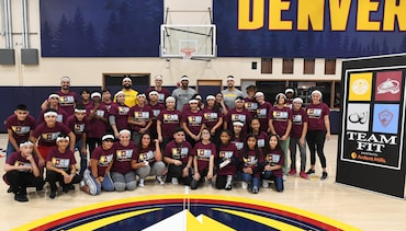 Nuggets host TeamFIT and Jr. Nuggets Clinics