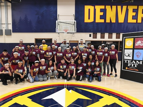 Denver Nuggets promote fitness and exercise in TeamFIT and Jr. Nuggets Clinics