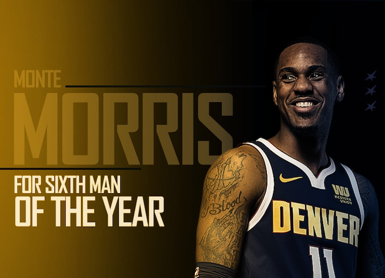 best service 3c304 2e576 Nuggets' Monte Morris for Sixth Man Of The Year | Denver Nuggets