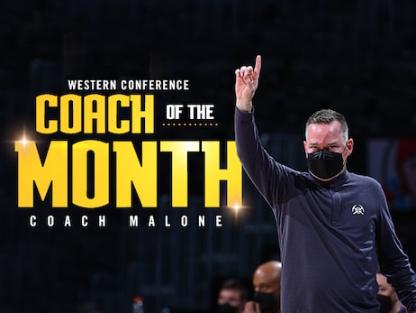 Denver Nuggets head coach Michael Malone named Western Conference Coach of the Month for April