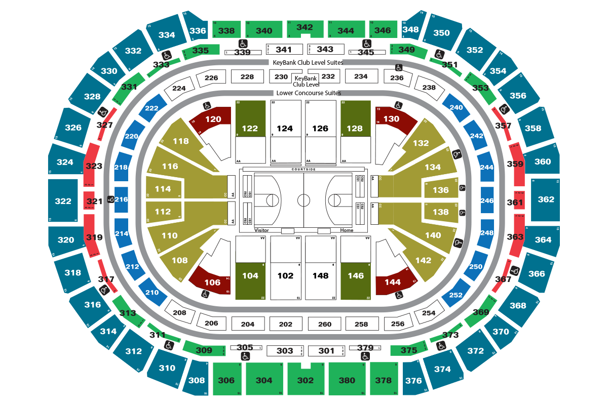 Denver Nuggets 2016-17 Pricing Map