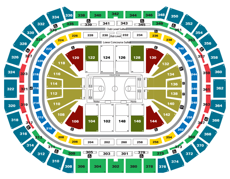 Nuggets Single Game Tickets Map