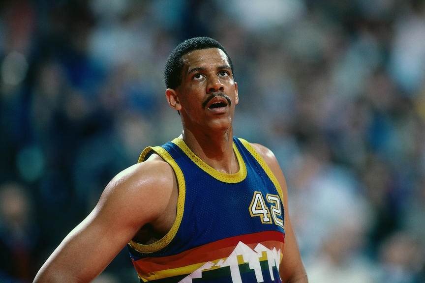 We Love The Nuggets 80s Mike Evans Denver Nuggets