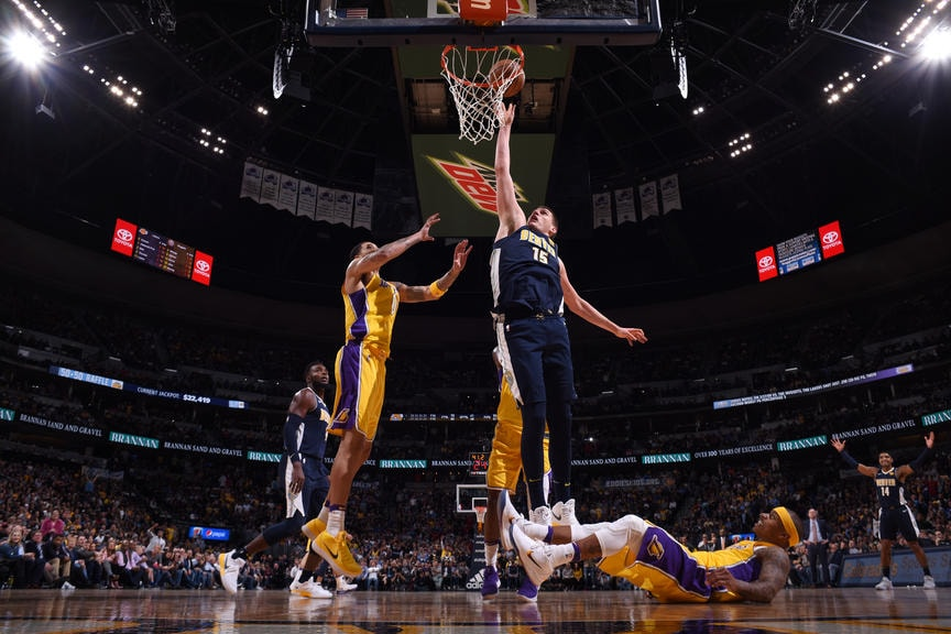 Nuggets Turn Up Their Play Put Away Lakers With Big Fourth Quarter
