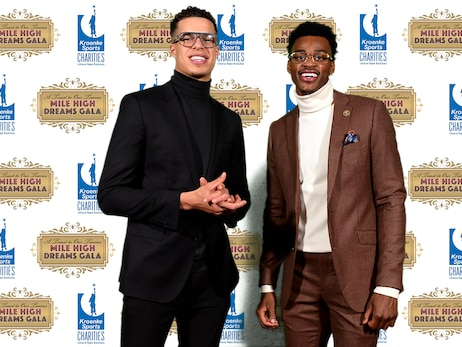 Scenes from Nuggets attending Mile High Gala