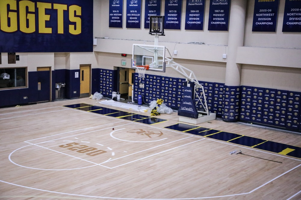 UCHealth Practice Court Gets New Look   Denver Nuggets