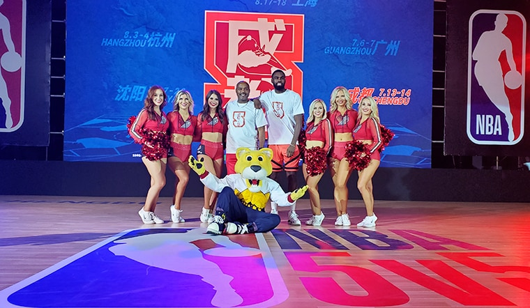 Denver Nuggets' SuperMascot Rocky In China