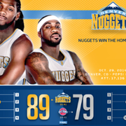 Pistons vs. Nuggets: Infographic