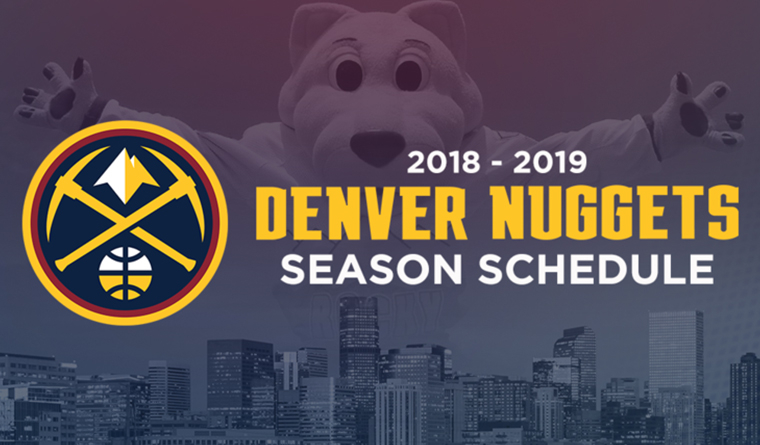 Los Denver Nuggets anuncian calendario de pretemporada 2018