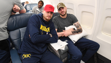 Photos: Nuggets Arrive in San Antonio