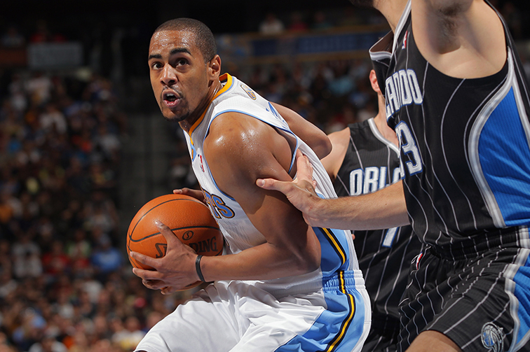 Arron Afflalo with the Nuggets in 2012.
