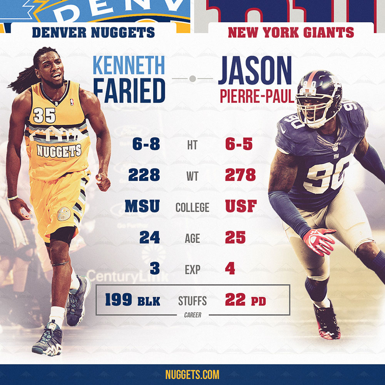 Denver Nuggets Announcers: NBA To NFL Crossover: Nuggets Forward Kenneth Faried