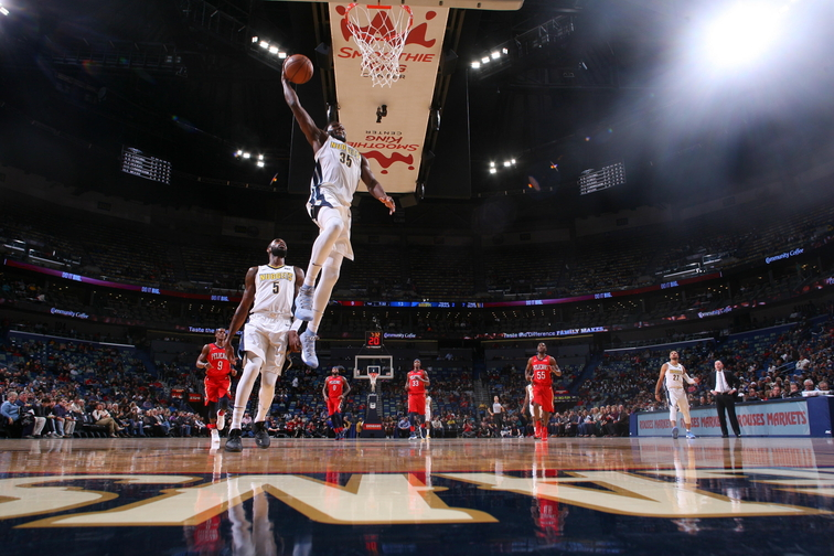DeMarcus Cousins powers New Orleans Pelicans to victory over Denver Nuggets