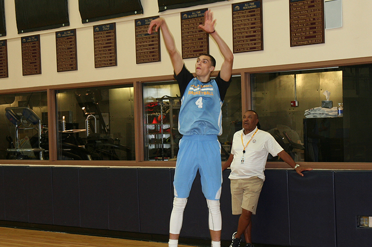 UCLA guard Zach LaVine worked out with the Nuggets on Saturday, June 14.