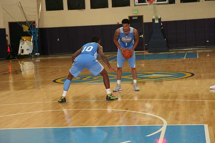 Prospects K.J. McDaniels and Davon Usher workout for the Nuggets.